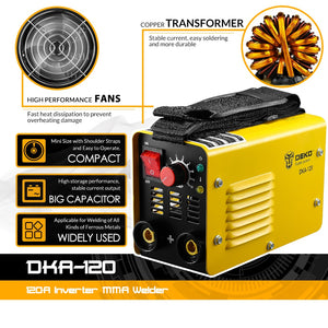 Electric Welding Machine DKA-120 120A 4.1KVA MMA Welder for Welding Working and Electric Working