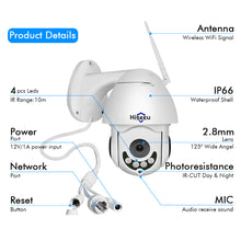Load image into Gallery viewer, Wirless PTZ Speed Dome IP Camera Wifi Outdoor 1080Ptwo Way Audio CCTV Security Video Network Surveillance Camera P2P - Bragartele.com