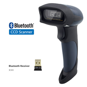 Wired CCD Barcode Scanner AND Handheld M2 Wireless Bar Code Reader 32Bit High Speed POS Bar Code Scan for inventory - Bragartele.com