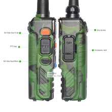 Load image into Gallery viewer, Plus Camouflage Walkie Talkie UV-5RE 128CH Portable Radio Dual Band VHF UHF Handheld Ham Radio Communicator - Bragartele.com