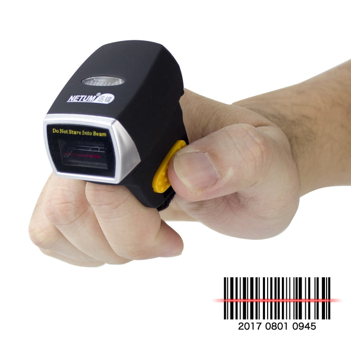 Wireless Ring 1D Laser Barcode Scanner Support POS NT-R1 - Bragartele.com