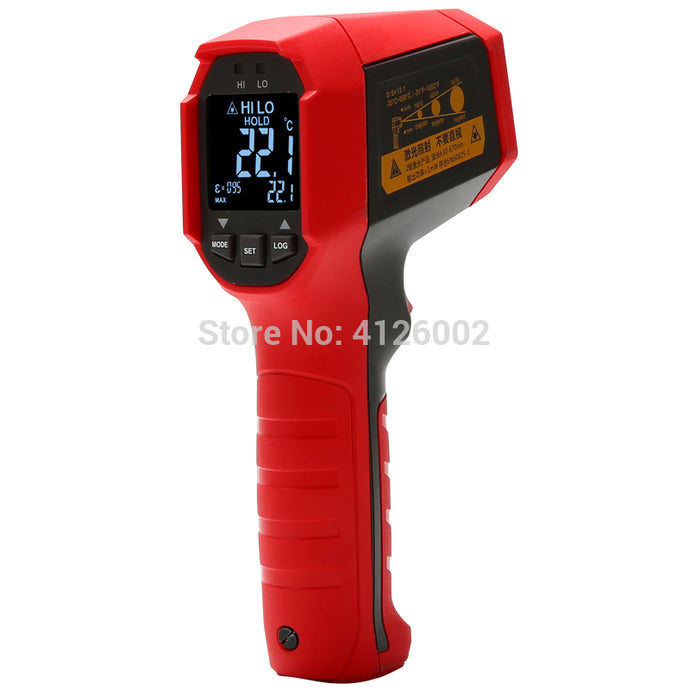 Professional Infrared Thermometer; IP65 dust/waterproof non-contact industrial infrared thermometer, data storage - Bragartele.com