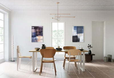 #05 Clean and bright dining room with it's character to the beauty of white