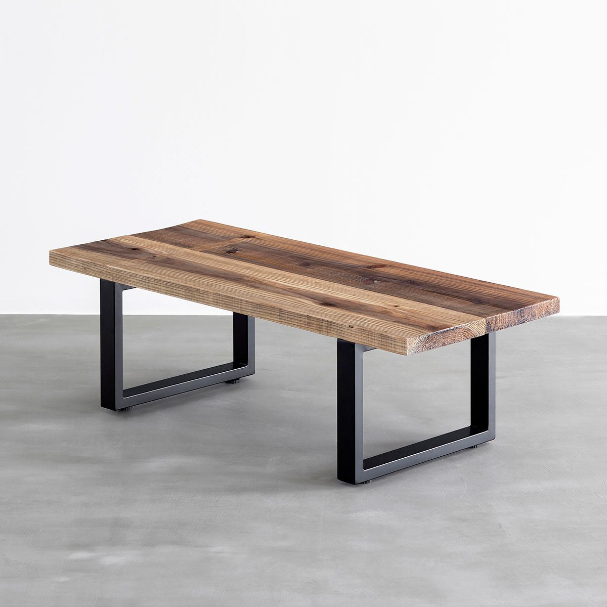 THE LOW TABLE / 杉無垢材 ヴィンテージスタイル × Black Rectangle Steel