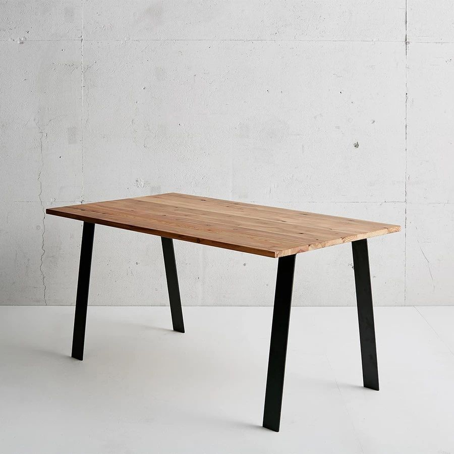 THE TABLE / 杉無垢材 × Black Steel