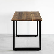 THE TABLE / 古材 × Black Steel