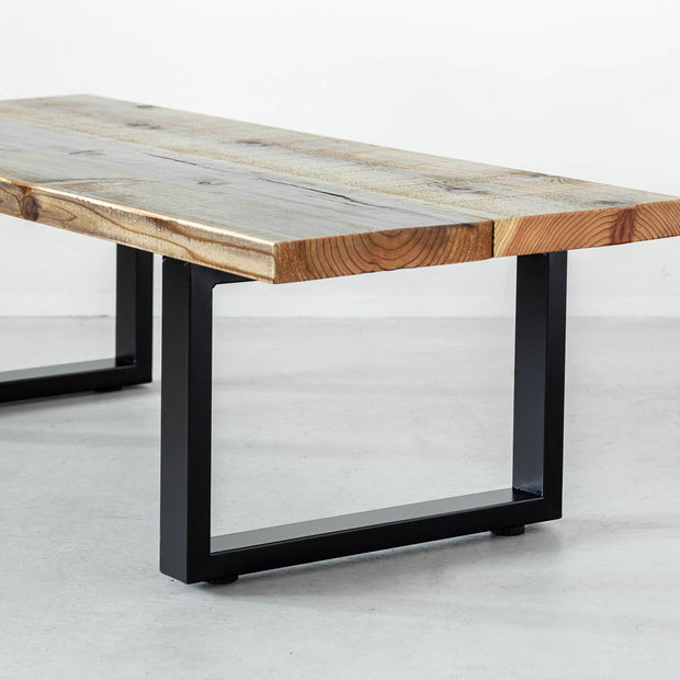 THE LOW TABLE / 古材 × Black Rectangle Steel