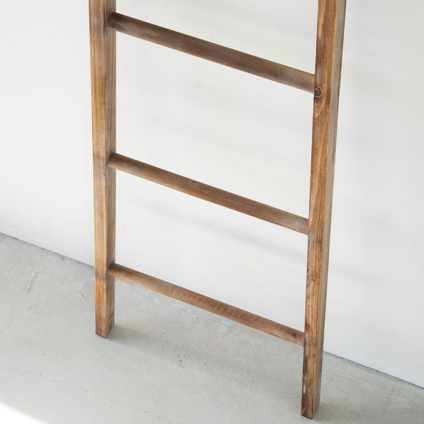 Solid pine natural wood ladder rack Small