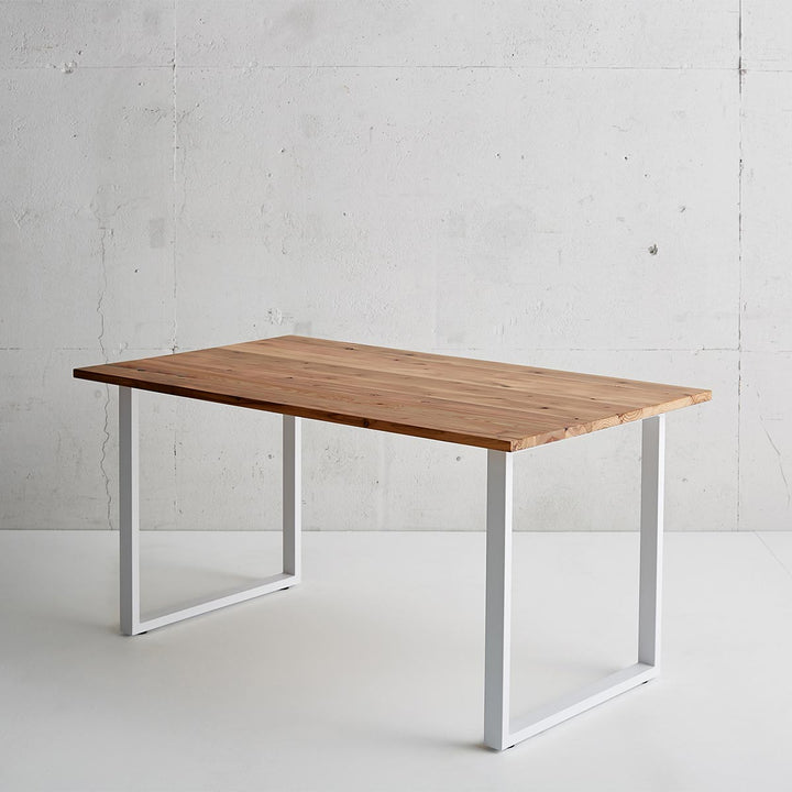 THE TABLE / 杉無垢材 × White Steel