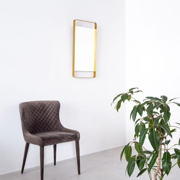 Iron Frame Wall Mirror Gold
