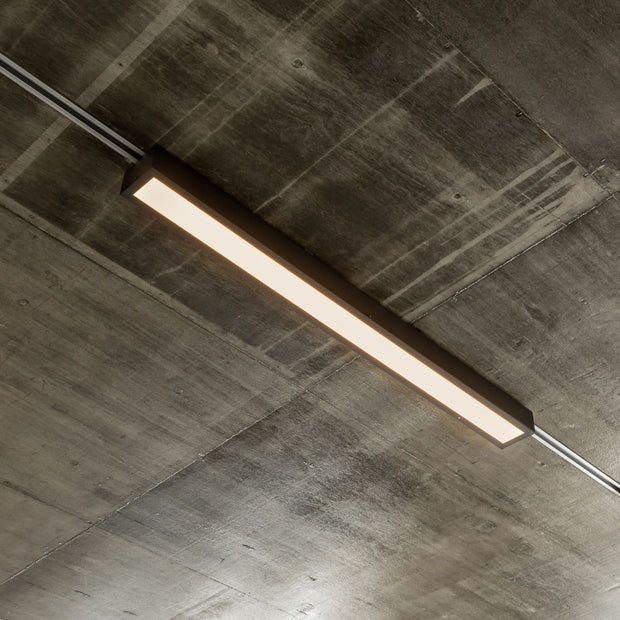 Black - Slim Office Ceiling Light