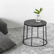 Marble & Wire Side Table (Low)