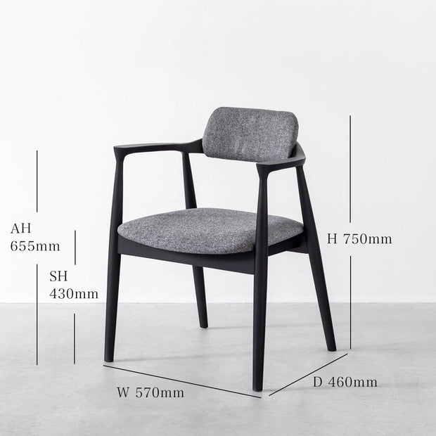 Black × Gray Stylish Dining Chair