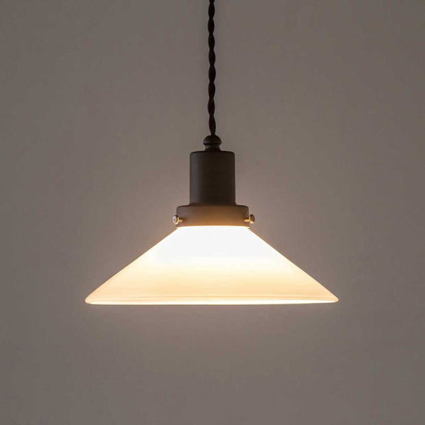 Milky Glass Mini Shade Pendant light