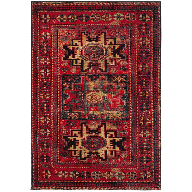 【OUTLET】Oriental Distressed Rug - Red/Multi 120×180