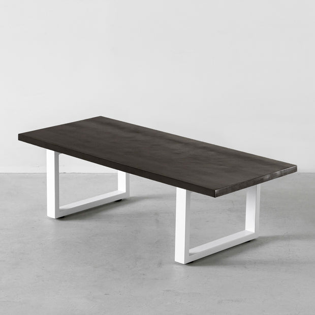 THE LOW TABLE / ラバーウッドB × White Rectangle Steel