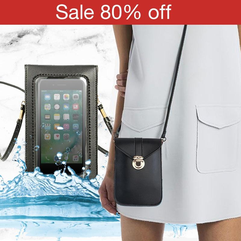 WW™ - Comfy Touch Screen Waterproof Leather Crossbody Phone Bag for Smart Phone (#1 MOST WANTED)