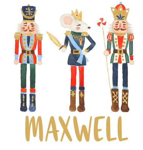 Boys Nutcracker Trio Watercolor Press