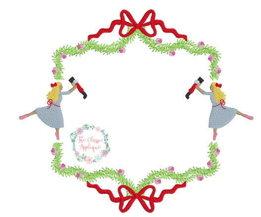 - SAMPLE SALE- Girls Nutcracker Frame Stitch Design