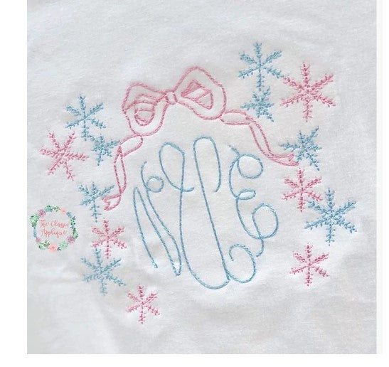 - SAMPLE SALE- Girls Snow Frame Stitch Design