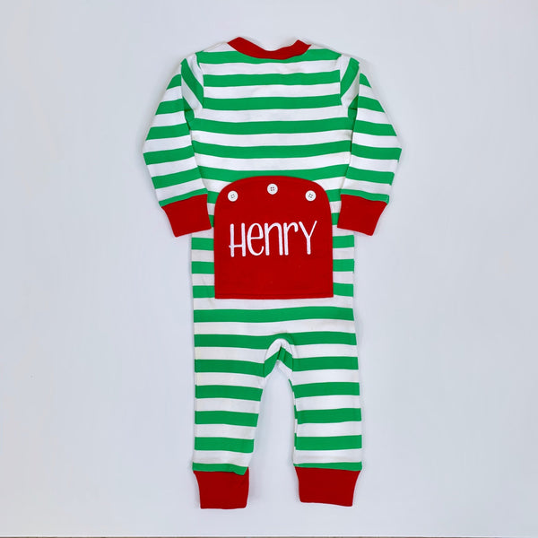 Christmas PJ's- One Piece Bottom Flap