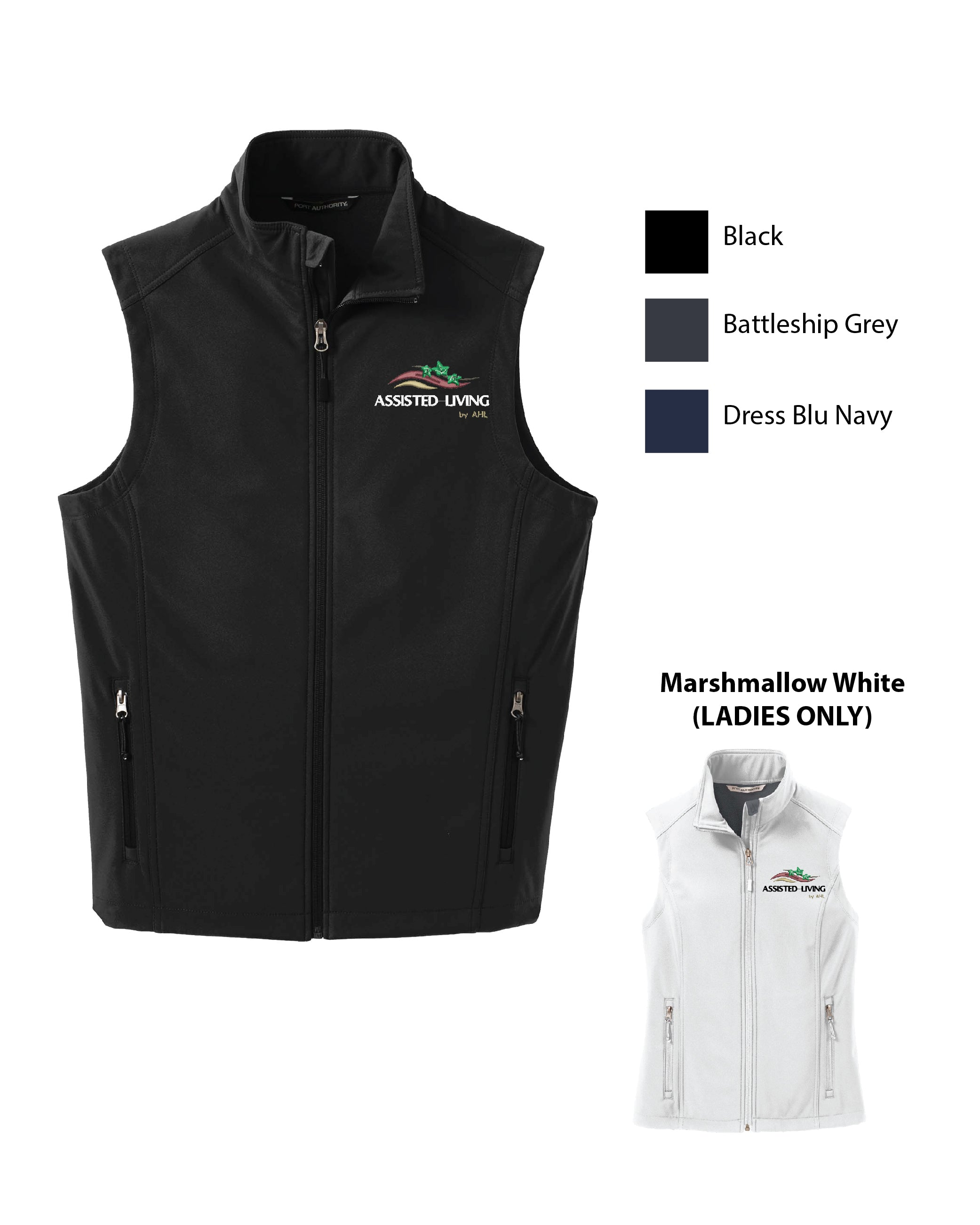 T ASL ) MENS AND WOMENS SOFTSHELL VESTS