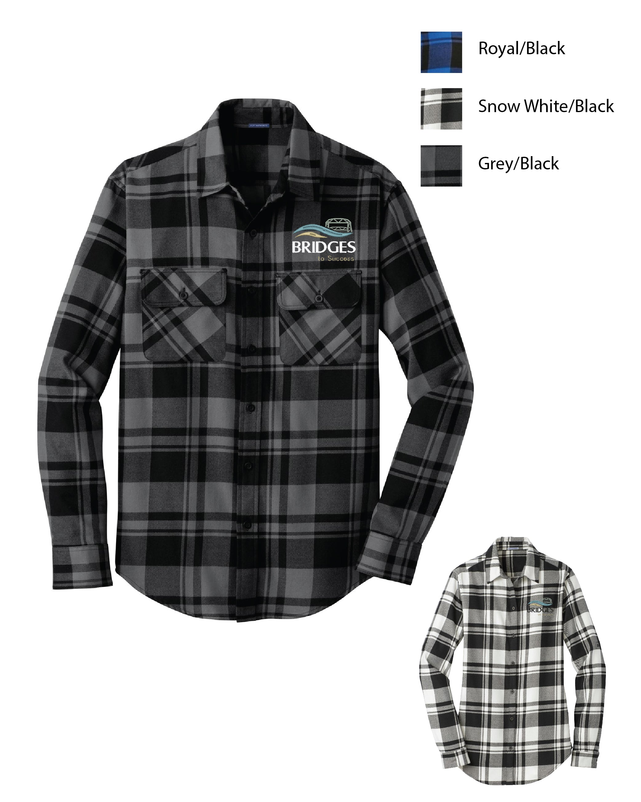 S BRID ) MENS AND WOMENS PLAID FLANNEL SHIRTS