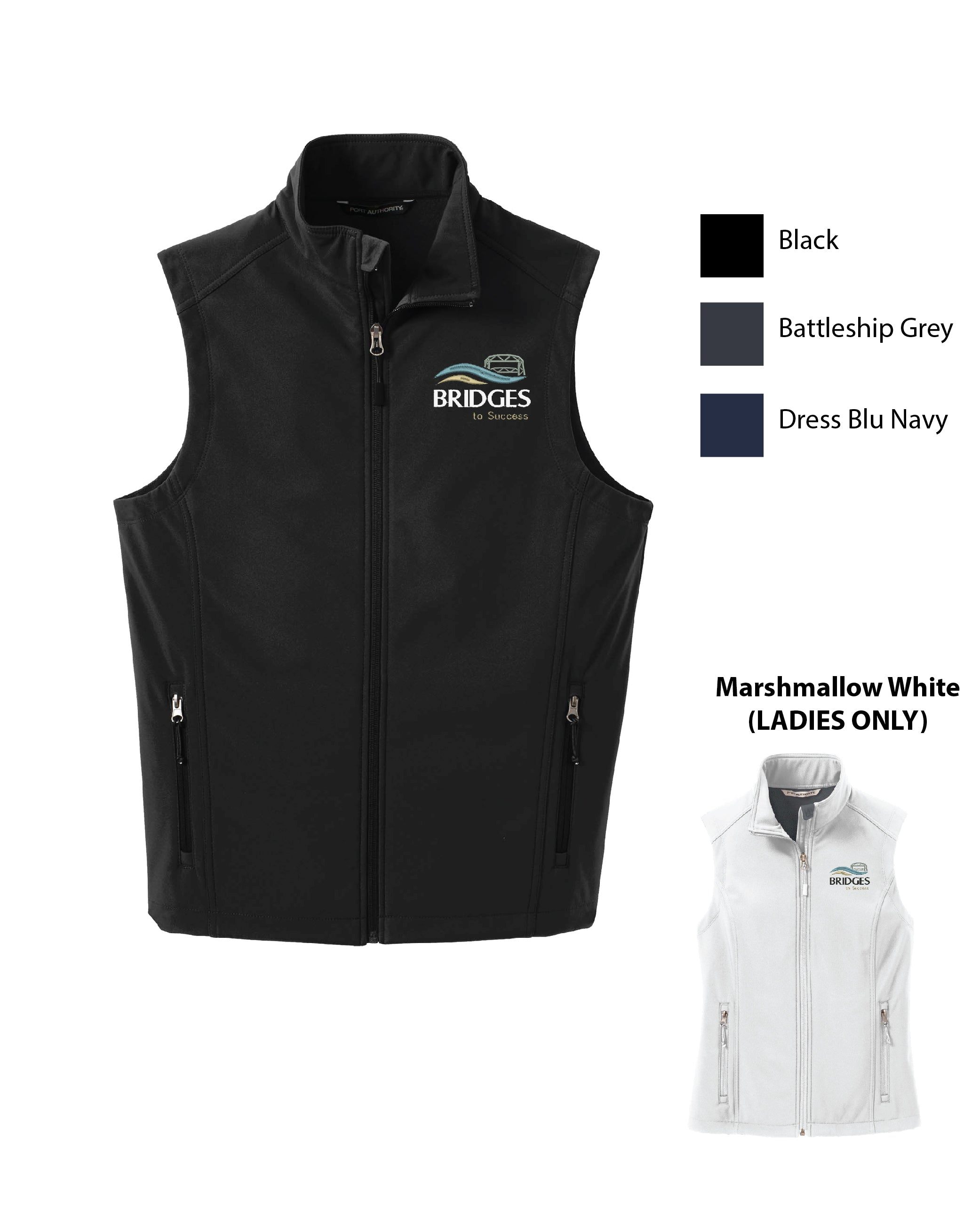 T BRID ) MENS AND WOMENS SOFTSHELL VESTS