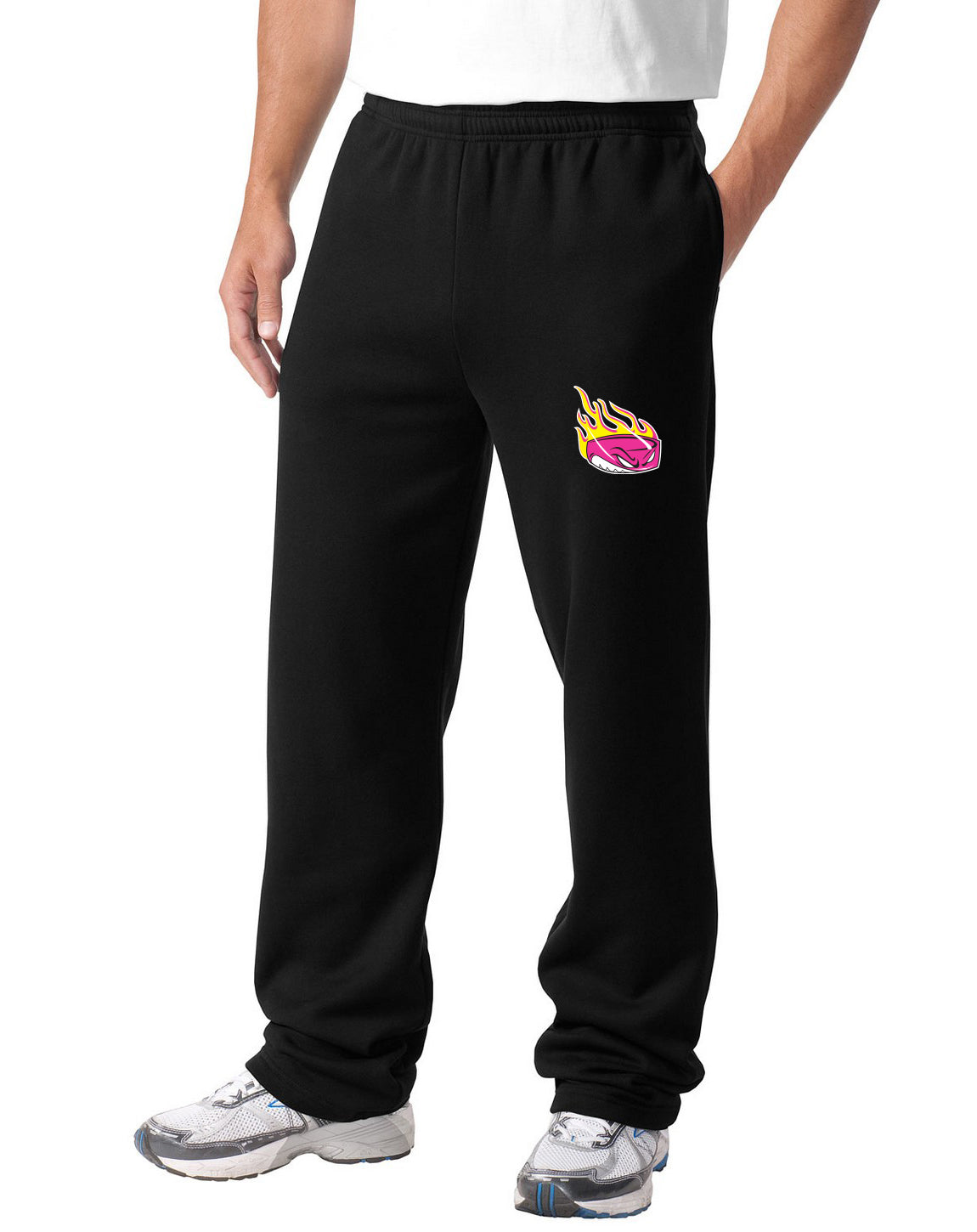 C2 ) STYLE# ST257 ADULT SWEATPANTS & Y257 YOUTH SWEATPANTS ( PINK LOGO )