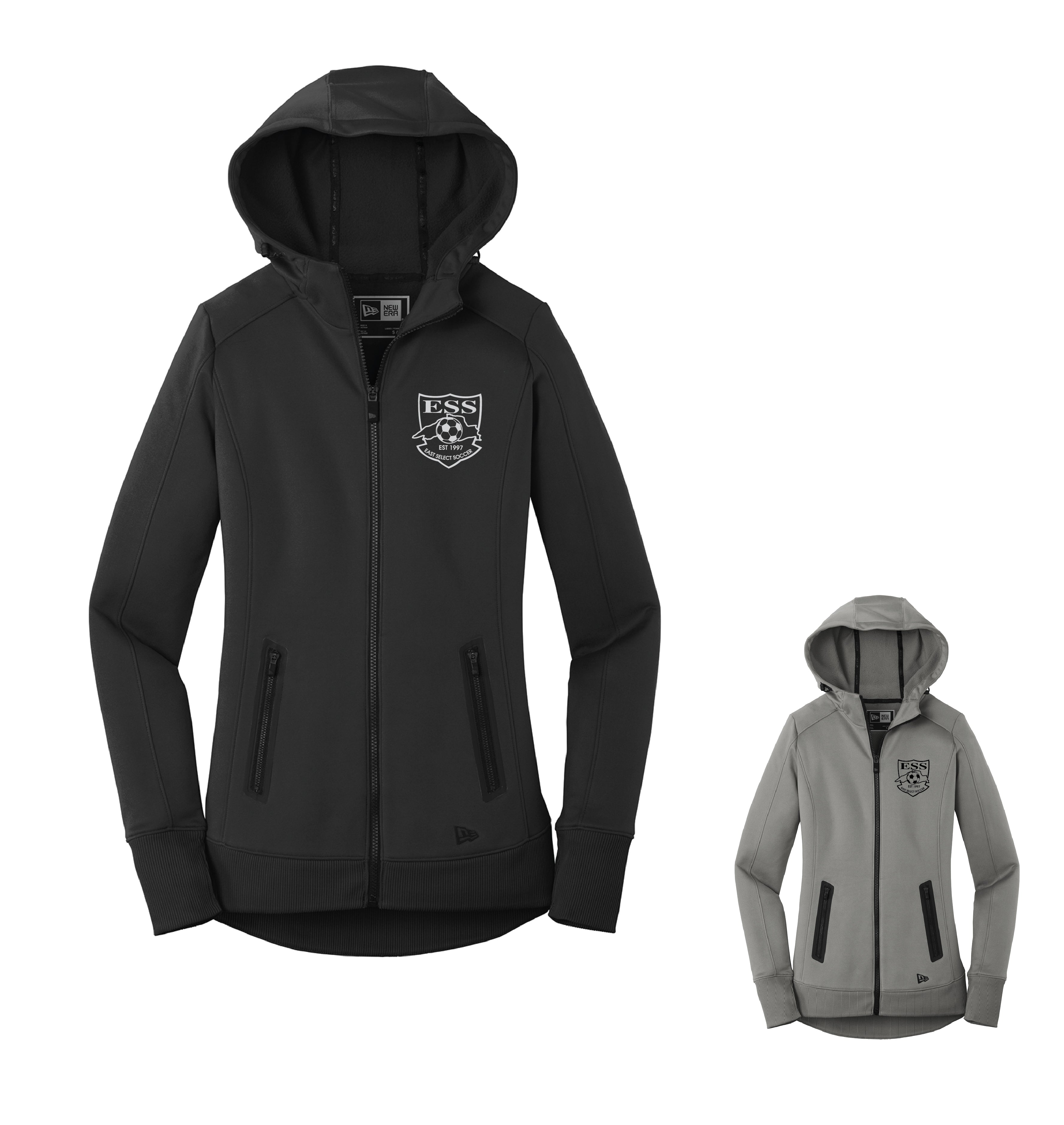 ESS B1)* NEW ITEM * LADIES NEW ERA FULL ZIP FLEECE HOODIE
