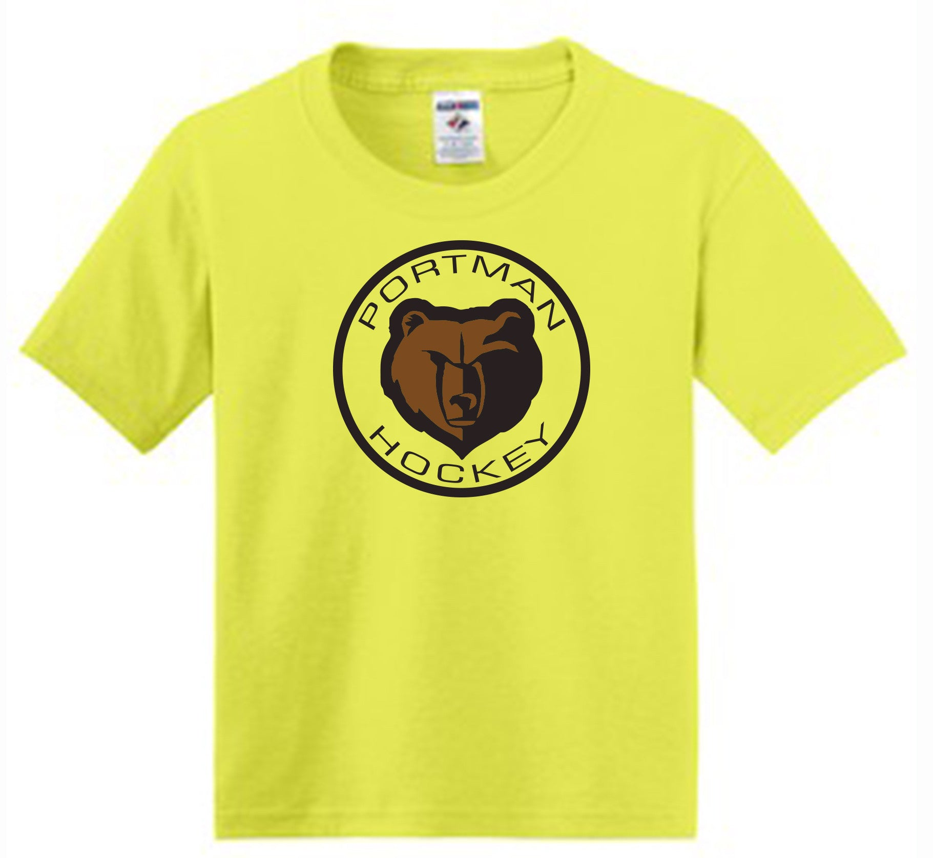 JERZEES® - Youth Dri-Power® Active 50/50 Cotton/Poly T-Shirt. Neon Yellow #29B
