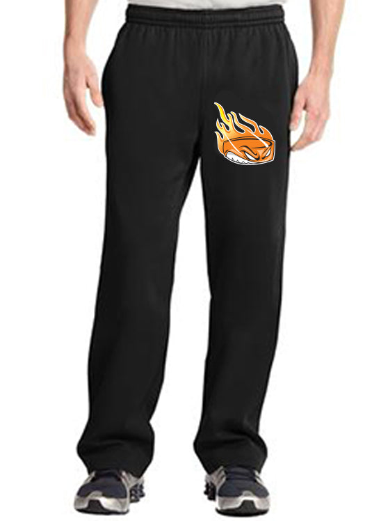 L1) SPORT - WICK FLEECE PANTS ( ORANGE LOGO )