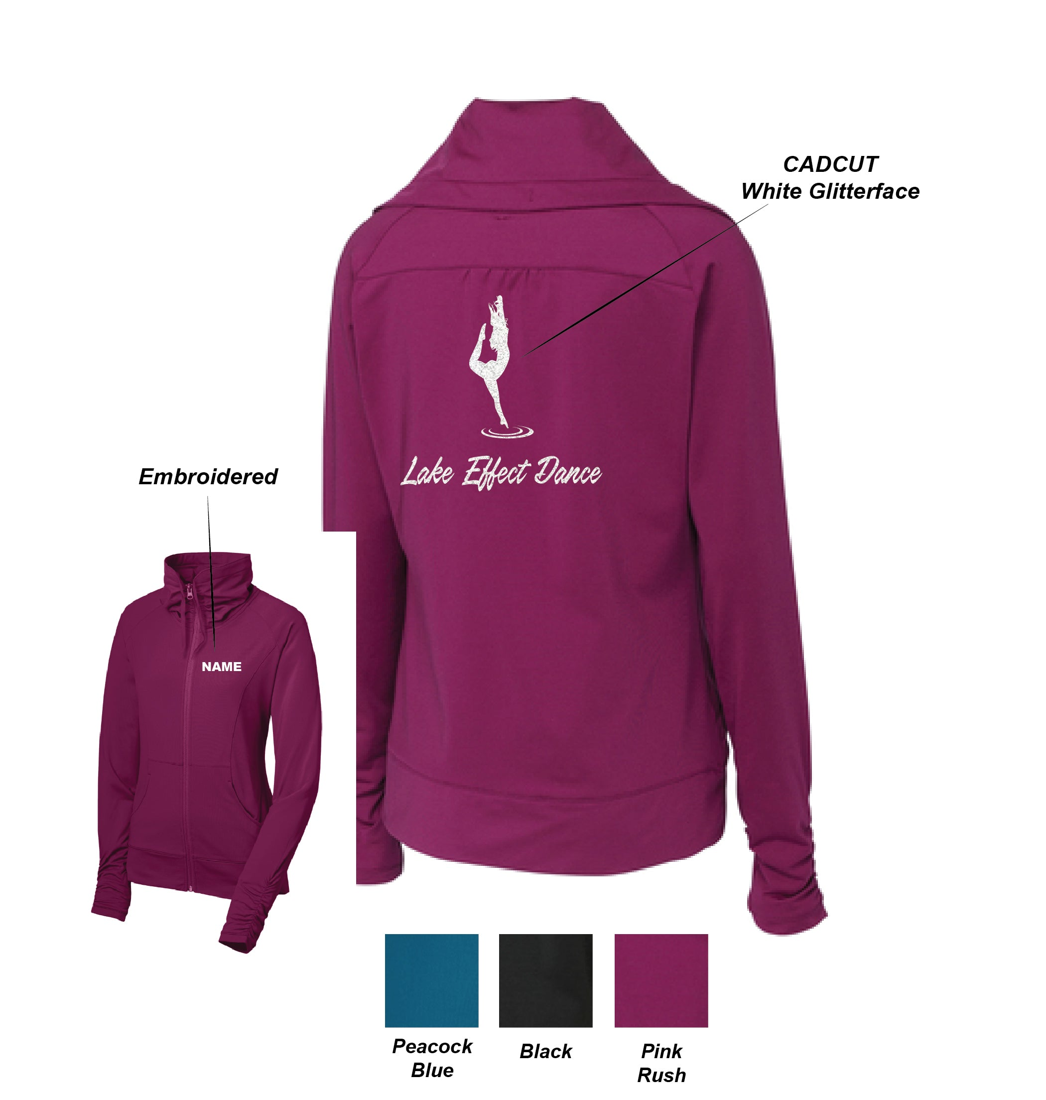 F) LADIES SPORT-WICK STRETCH FULL ZIP JACKET