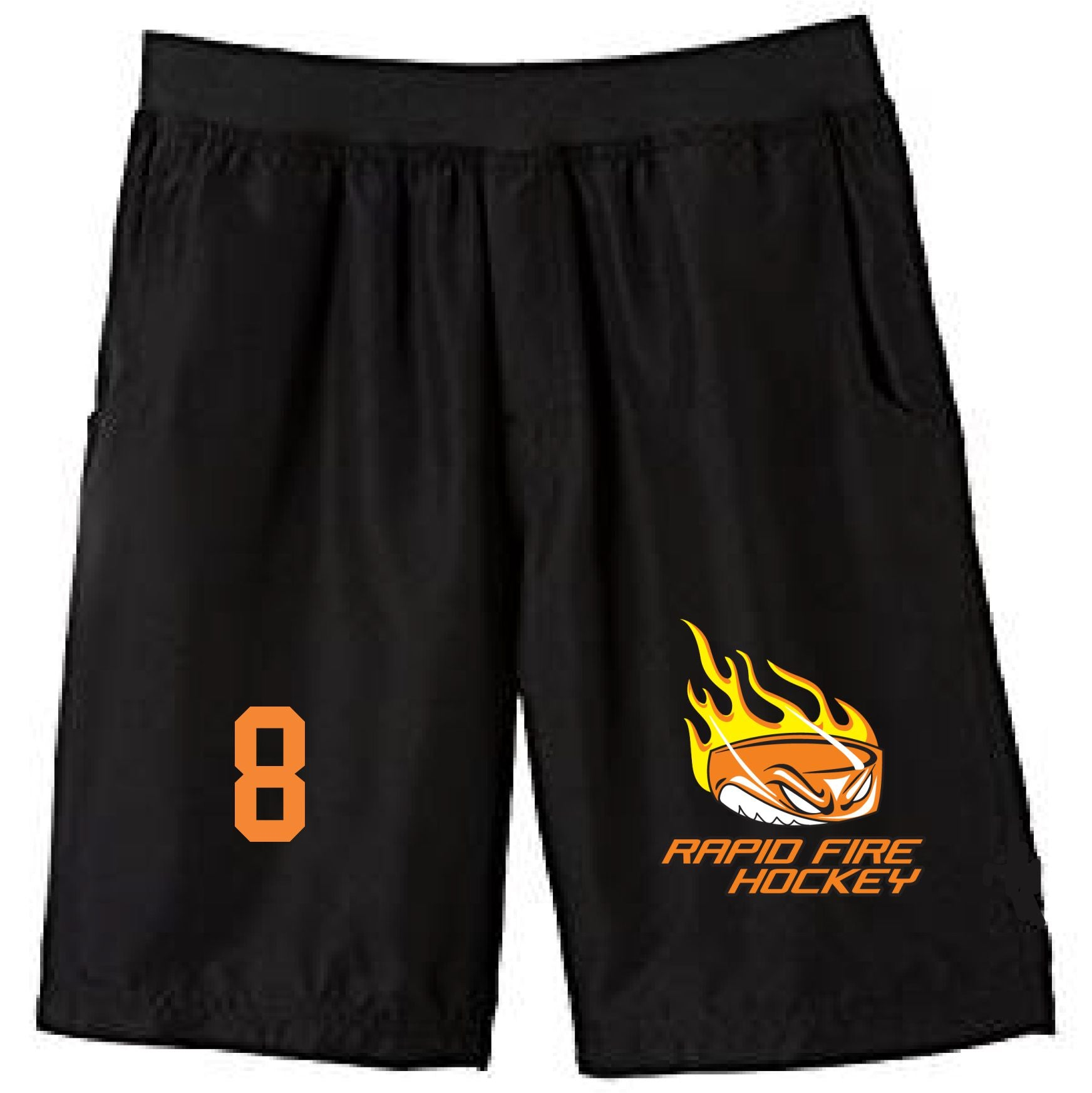 F) ADULT AND YOUTH 100% POLY SHORTS