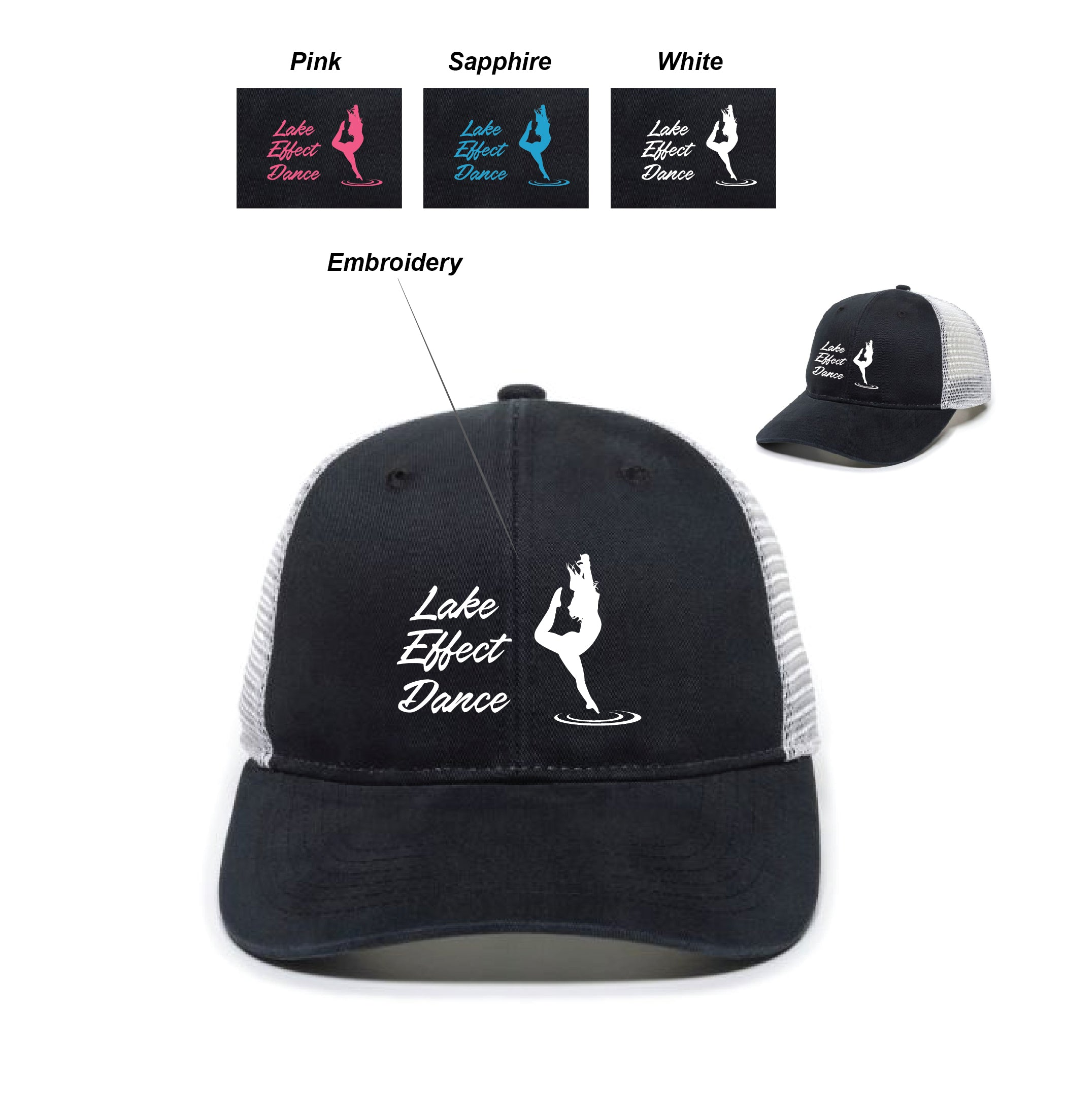 T) LADIES FIT MESH BACK CAP WITH PONYTAIL