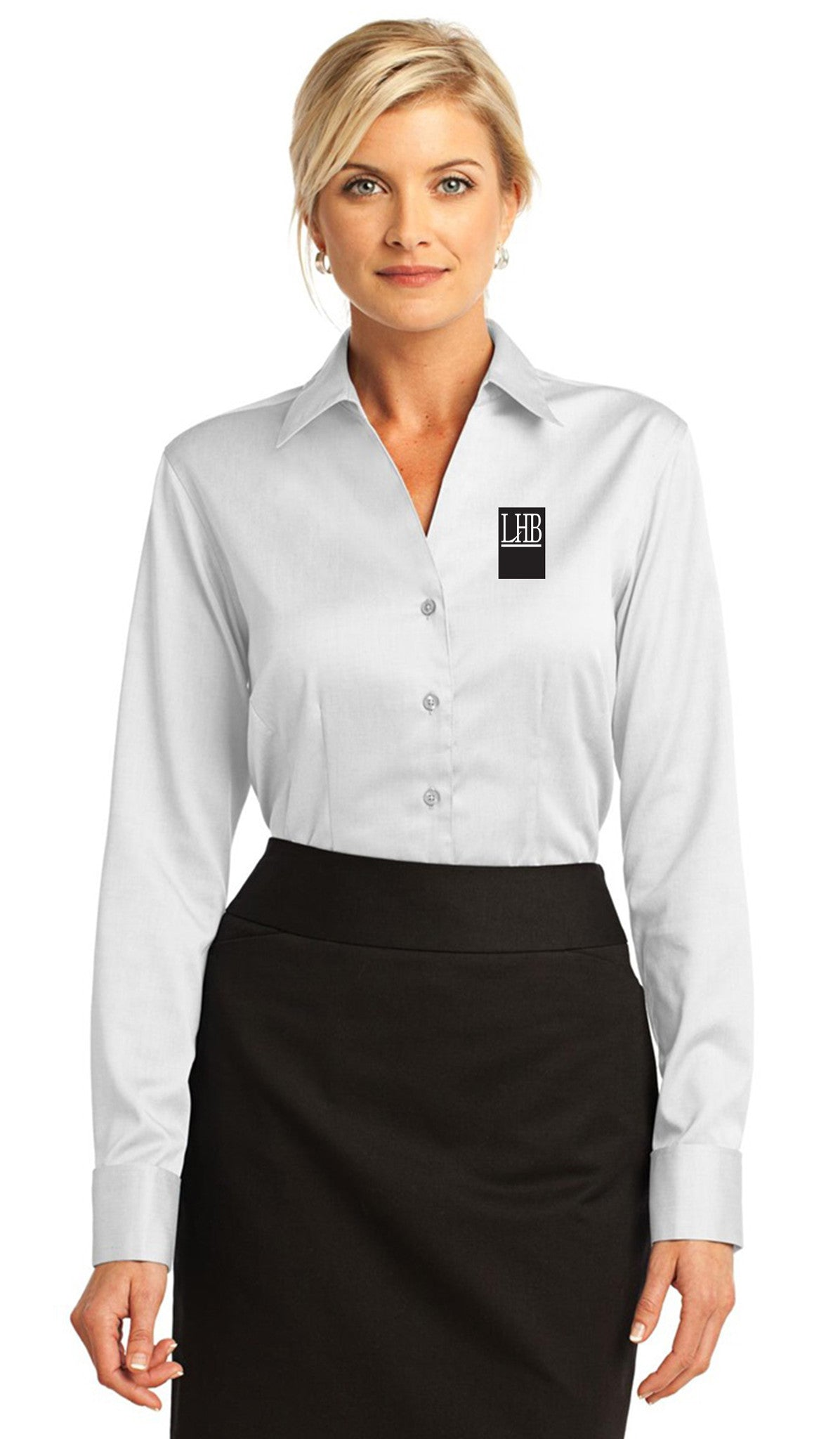 Red House® - French Cuff Non-Iron Pinpoint Oxford Shirt - Women's - #RH63