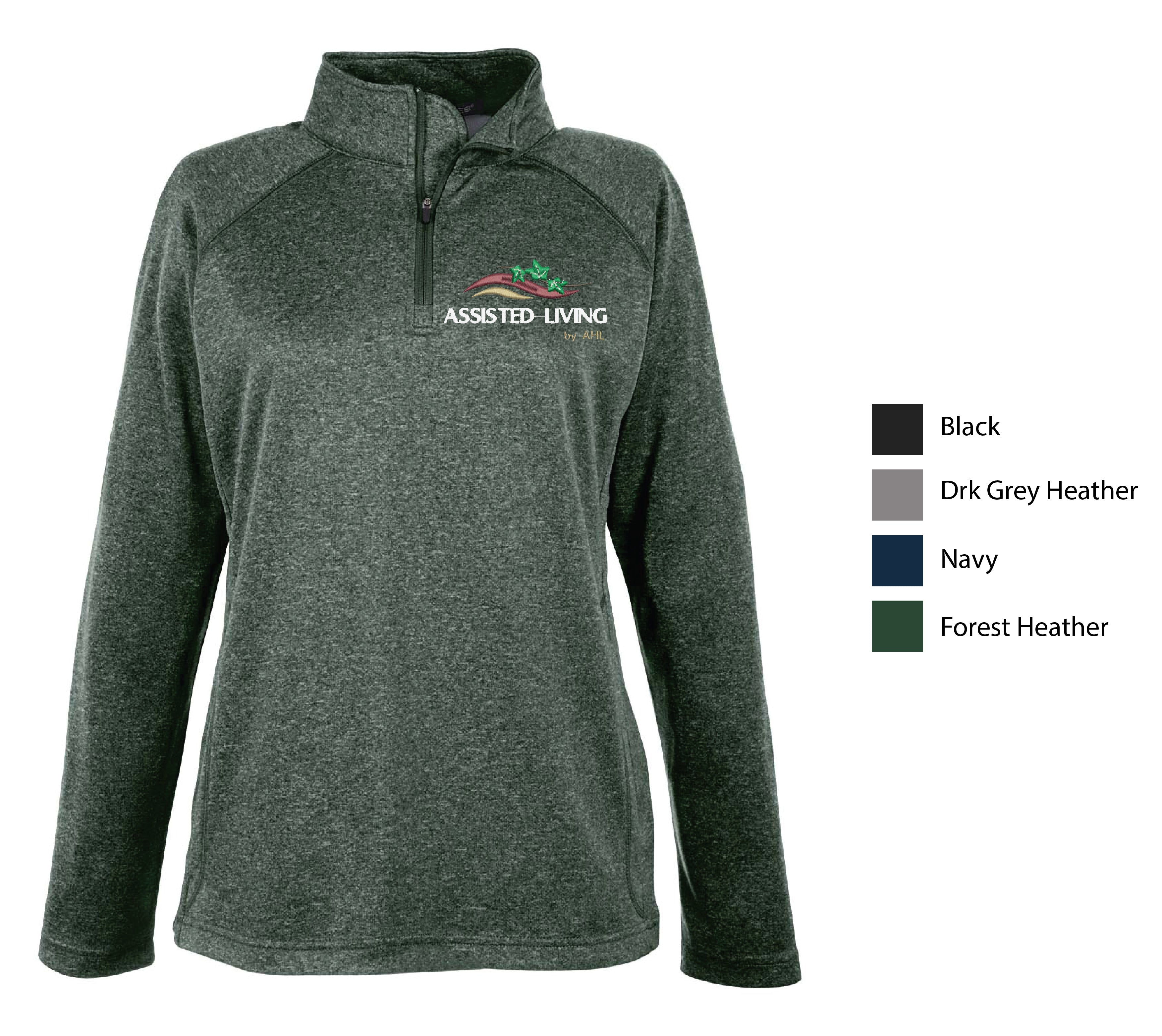 I-ASL ) STYLE #DG440W LADIES  STRETCH TECH 1/4 ZIP PULLOVERS