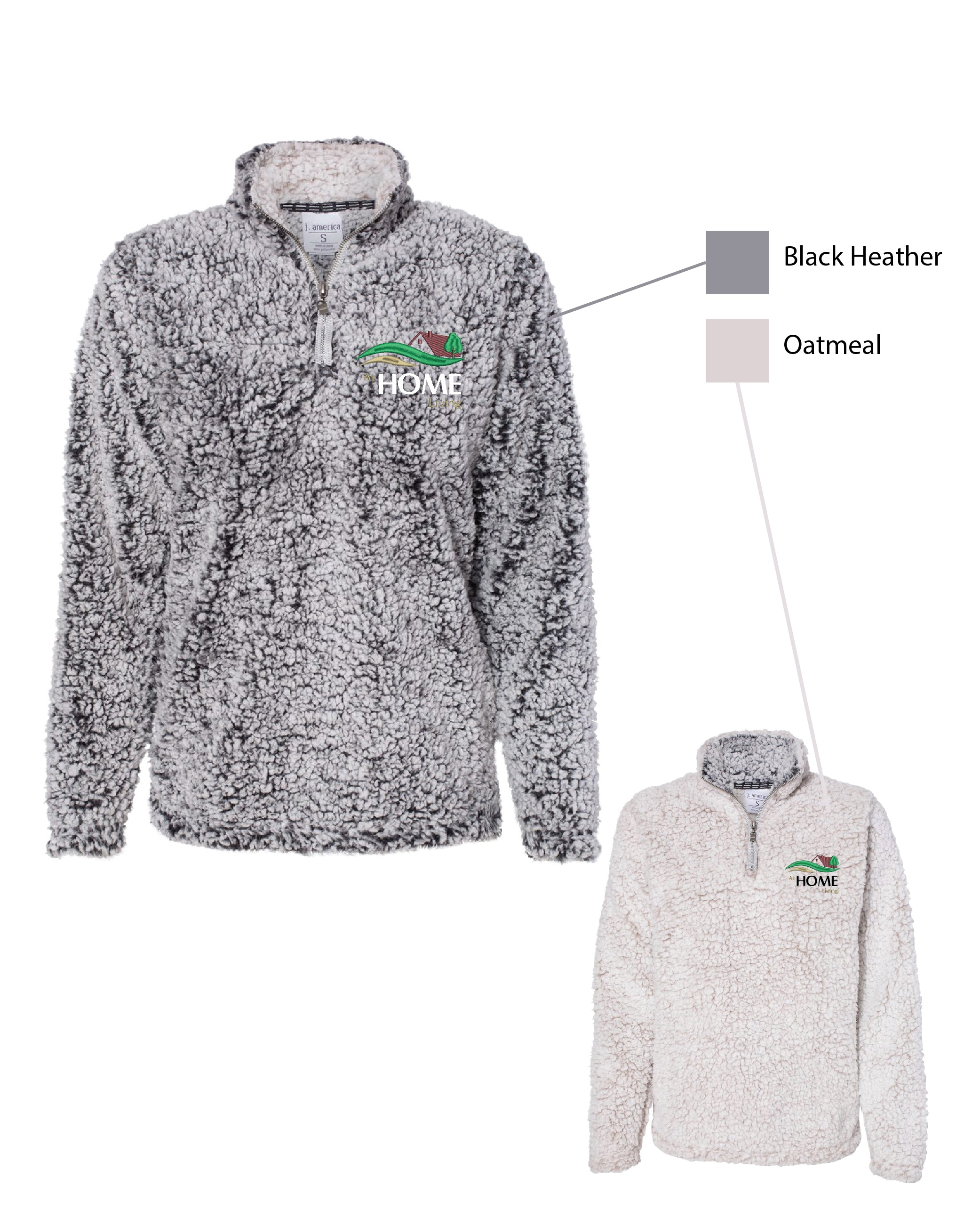 U HOME ) WOMENS 1/4 ZIP SHERPA PULLOVERS