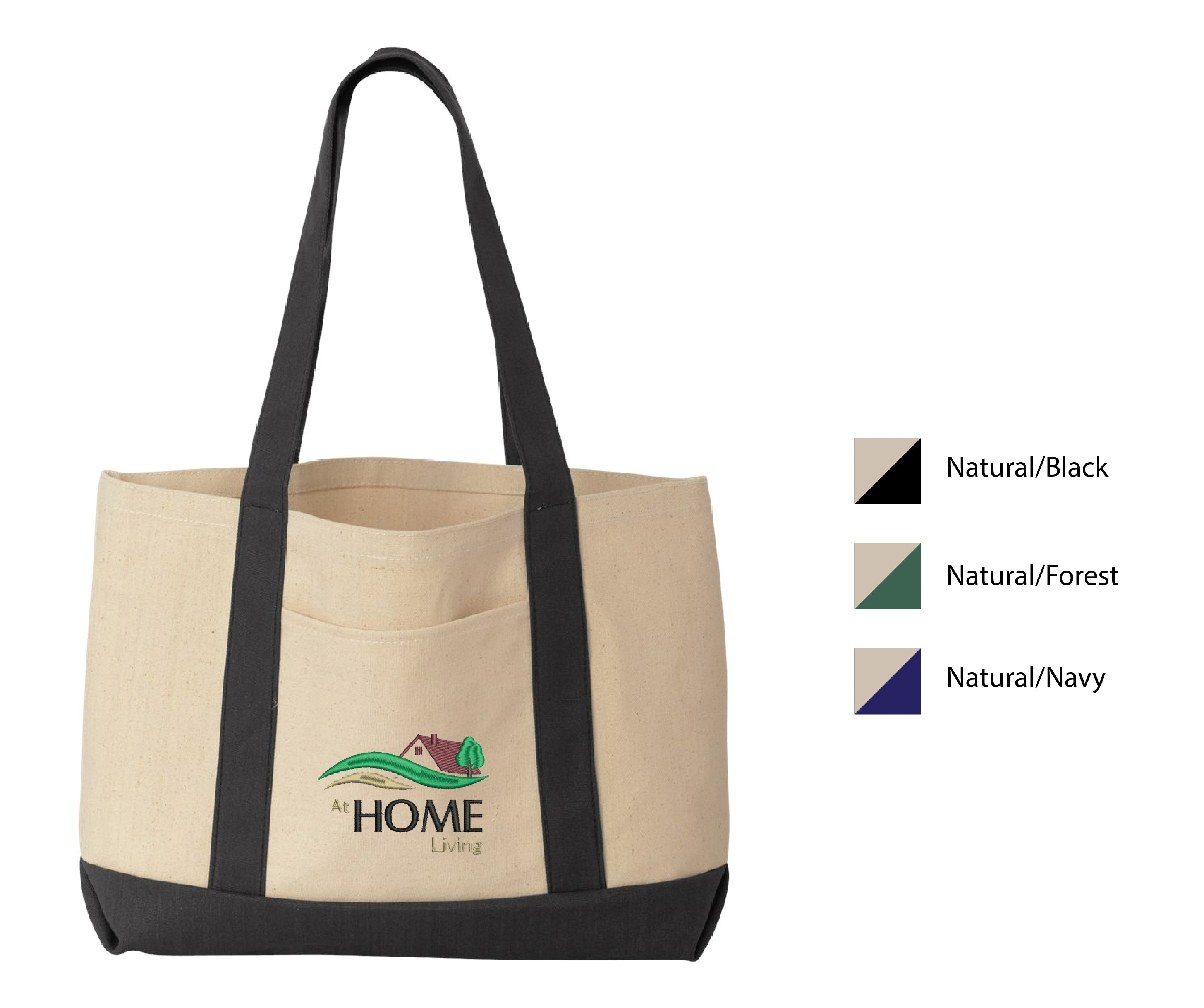 R-HOME ) #7769 LIBERTY BAGS BOATER TOTE