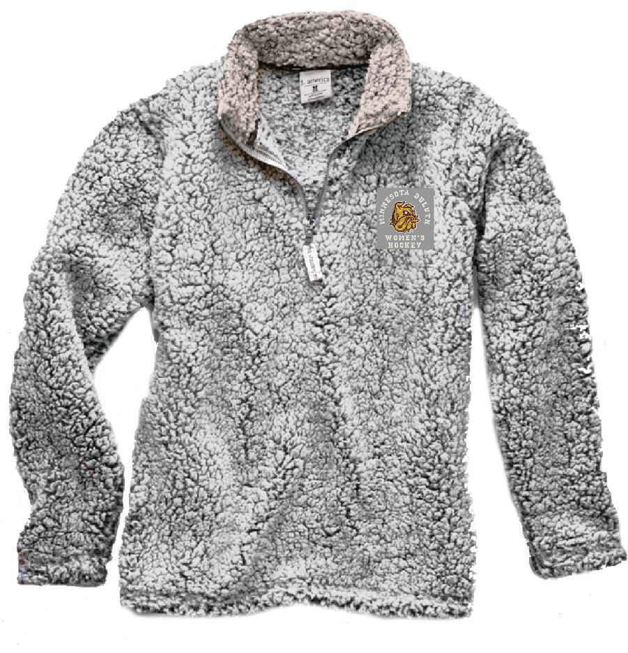 F) MEN'S & WOMEN'S SHERPA QUARTER ZIP JACKET