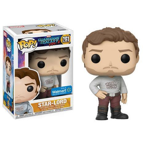 Funko Pop! Marvel: Star-Lord (Vol.2) (Walmart Exclusive) #261 - Popu!ar Collectibles