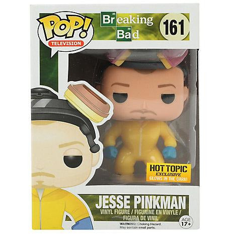 Funko Pop! Television: Breaking Bad - Jesse Pinkman GITD (Haz Mat Suit) (Hot Topic Exclusive) #161 - Popu!ar Collectibles
