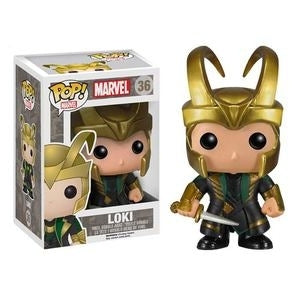 Funko Pop! Marvel: The Dark World - Loki with Gold Helmet #36 - Popu!ar Collectibles