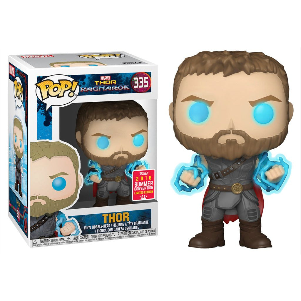 Funko Pop! Marvel Thor Ragnarok: Thor (Odin Force) (Summer Convention) #335 - Popu!ar Collectibles