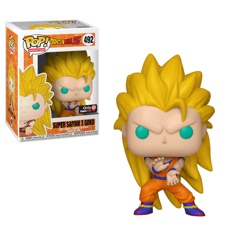 Funko Pop! Animation: Dragon Ball Z - Super Saiyan 3 Goku (Gamestop Exclusive) #492 - Popu!ar Collectibles