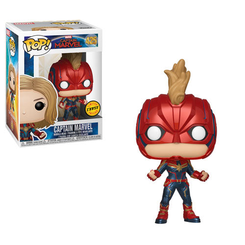 Funko Pop! Captain Marvel: Captain Marvel (Chase) #425 - Popu!ar Collectibles
