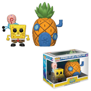 Funko Pop! Town: Spongebob with Gary and Pineapple House #02 - Popu!ar Collectibles