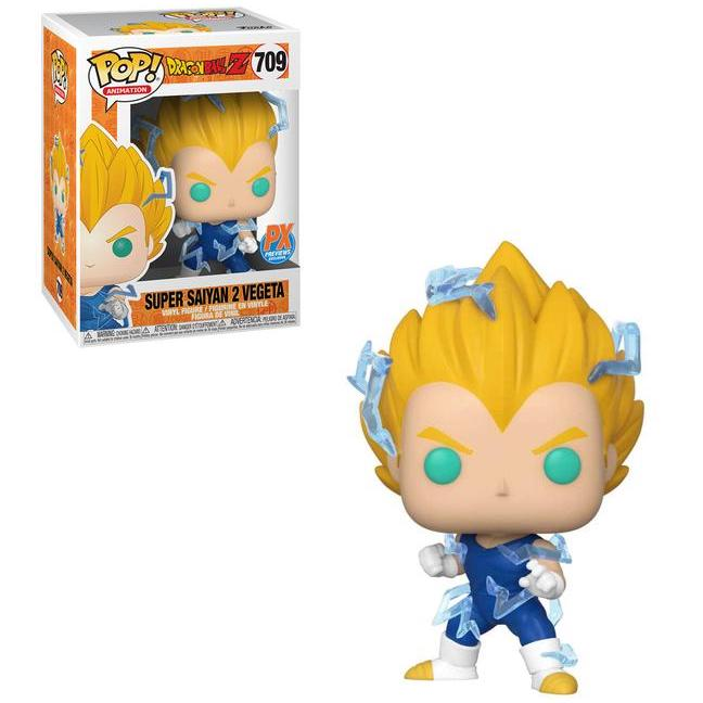 Funko Pop! Animation: Dragon Ball Z - Super Saiyan 2 Vegeta (PX Exclusive) #709 - Popu!ar Collectibles
