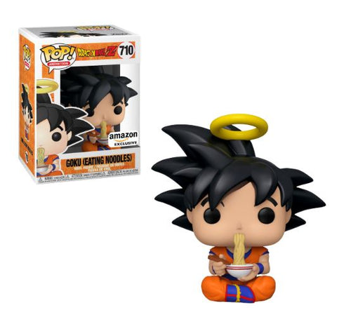 Funko Pop! Animation: Dragon Ball Z - Goku Eating Noodles (Amazon Exclusive) #710 - Popular Collectibles | Popu!ar Collectibles