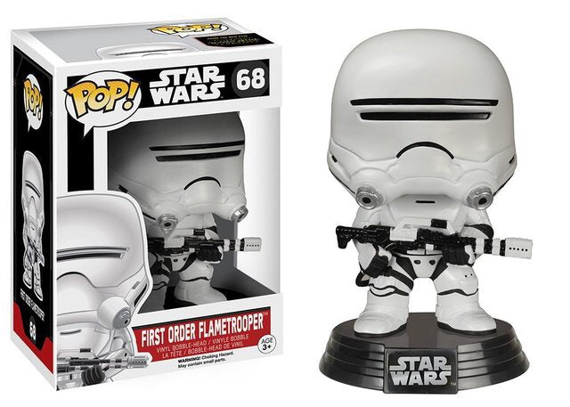 Funko Pop! Star Wars - First Order Flametrooper #68 - Popu!ar Collectibles
